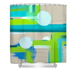 Shower Curtain featuring the painting Coastal Meadows by Frank Tschakert
