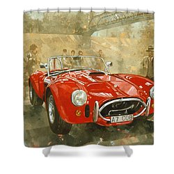 Cobra At Brooklands Shower Curtain by Peter Miller