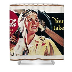 Coca-cola Ad, 1941 Shower Curtain by Granger