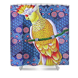 Cockatoo Shower Curtain by Jane Tattersfield