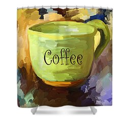 Coffee Cup Shower Curtain by Jai Johnson
