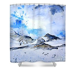 Col Du Pourtalet In The Pyrenees 01 Shower Curtain by Miki De Goodaboom