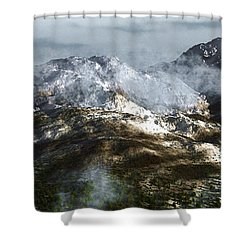 Cold Mountain Shower Curtain by Richard Rizzo