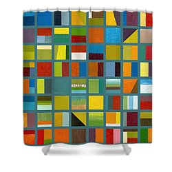 Color Study Collage 67 Shower Curtain by Michelle Calkins