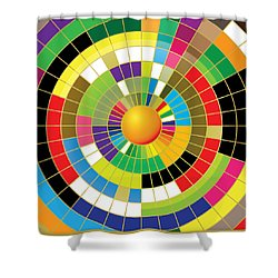 Color Wheel Shower Curtain by Gary Grayson