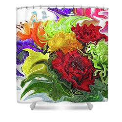 Colorful Bouquet Shower Curtain by Kathy Moll
