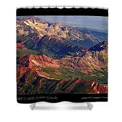 Colorful Colorado Rocky Mountains Planet Art Poster  Shower Curtain by James BO  Insogna