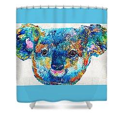 Colorful Koala Bear Art By Sharon Cummings Shower Curtain by Sharon Cummings