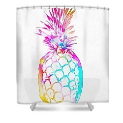 Colorful Pineapple Shower Curtain by Dan Sproul