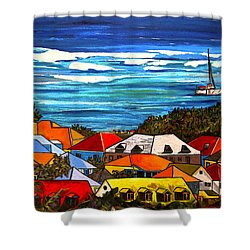 Colors Of St Martin Shower Curtain by Patti Schermerhorn