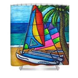Colourful Hobby Shower Curtain by Lisa  Lorenz