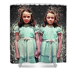 Come Play With Us - The Shining Twins Shower Curtain by Taylan Apukovska