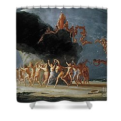 Come Unto These Yellow Sands Shower Curtain by Richard Dadd
