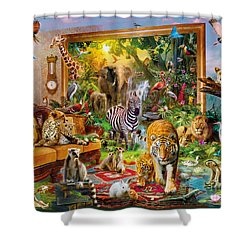 Coming To Room Shower Curtain by Jan Patrik Krasny