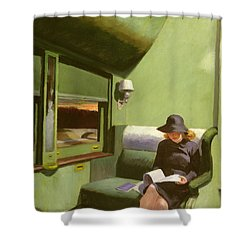 Compartment C Shower Curtain by Edward Hopper