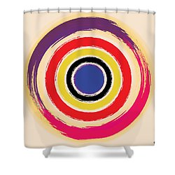 Compass Brush Shower Curtain by Gary Grayson