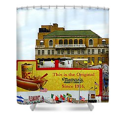 Coney Island Memories 9 Shower Curtain by Madeline Ellis