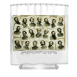 Confederate Commanders Of The Civil War Shower Curtain by War Is Hell Store