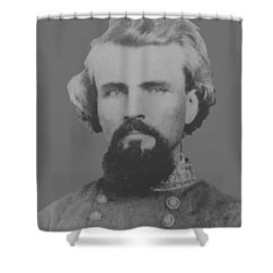 Confederate General Nathan Forrest Shower Curtain by War Is Hell Store