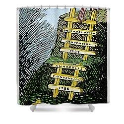 Constitution Cartoon Shower Curtain by Granger