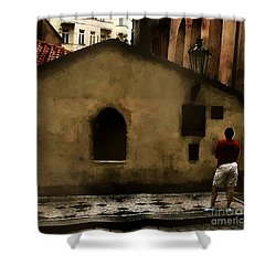 Contemplating Antiquity Shower Curtain by RC DeWinter