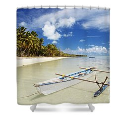Cook Islands, Aitutaki Shower Curtain by Bob Abraham - Printscapes