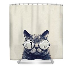 Cool Cat Shower Curtain by Vitor Costa
