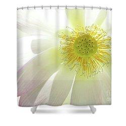 Cool Lotus Shower Curtain by Sabrina L Ryan