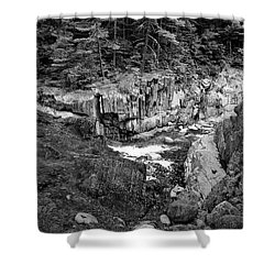 Coos Canyon 1553 Shower Curtain by Guy Whiteley