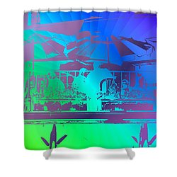 Copacabana Shower Curtain by Tim Allen