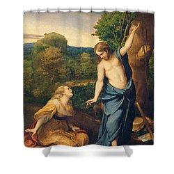 Correggio Shower Curtain by Noli Me Tangere