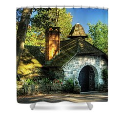 Cottage - The Little Cottage Shower Curtain by Mike Savad