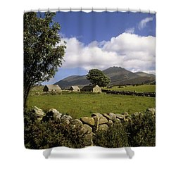 Cottages On A Farm Near The Mourne Shower Curtain by The Irish Image Collection