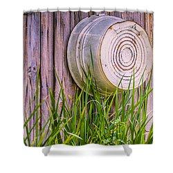 Country Bath Tub Shower Curtain by Carolyn Marshall