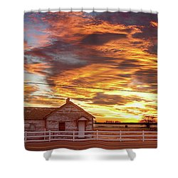 Country House Sunset Longmont Colorado Boulder County Shower Curtain by James BO  Insogna