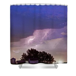County Line Northern Colorado Lightning Storm Shower Curtain by James BO  Insogna