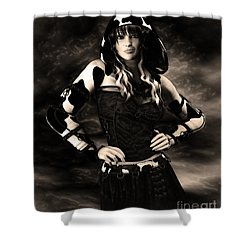 Cow Girl Shower Curtain by Jutta Maria Pusl