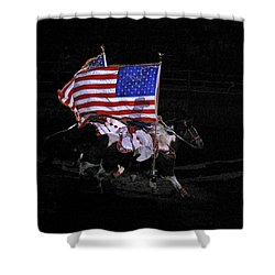 Cowboy Patriots Shower Curtain by Ron White