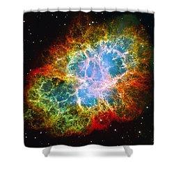 Crab Nebula Shower Curtain by Don Hammond