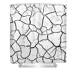 Cracked Mud Shower Curtain by Brandon Tabiolo - Printscapes