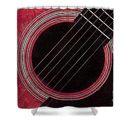 Cranberry Guitar Shower Curtain by Andee Design