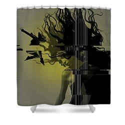 Crash Shower Curtain by Naxart Studio