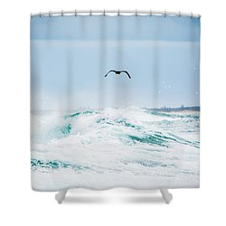 Crashing Waves Shower Curtain by Parker Cunningham