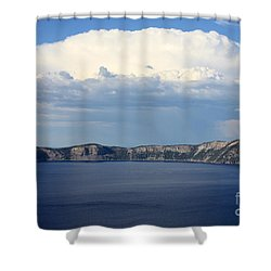 Crater Lake Shower Curtain by Carol Groenen
