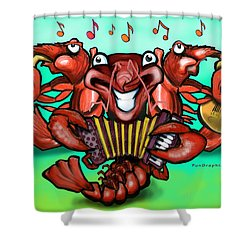 Crawfish Band Shower Curtain by Kevin Middleton