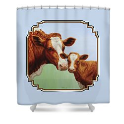 Cream And Sugar Shower Curtain by Crista Forest