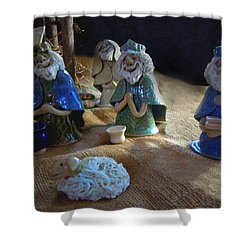 Creche Kings Shower Curtain by Nancy Griswold