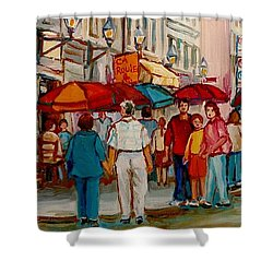 Creme De La Creme Cafe Shower Curtain by Carole Spandau