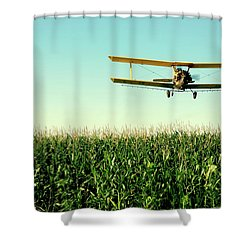 Crops Dusted Shower Curtain by Todd Klassy