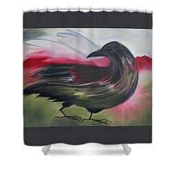 Crow Shower Curtain by Karen MacKenzie